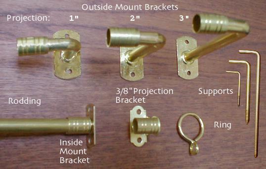 brass curtain rods. Brass Curtain Rods N