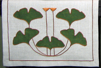 "Ginkgo Table Scarf 20"" x 72"""
