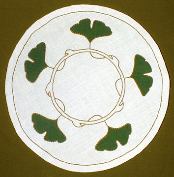 Ginkgo Round Table Linen
