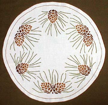 "Pinecone Round Table Linen Kit, 26"" diameter"