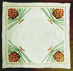 "Pinecone Square Table Linen Kit, 20"" x 20"""