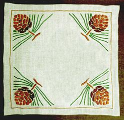 "Pinecone Square Table Linen Kit, 20"" x 20"""