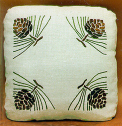 Pinecone Pillow - corners design