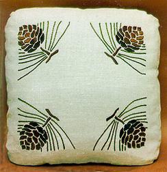 Pinecone Pillow - corners design