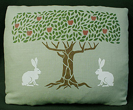 Stencilled Tree and Animals