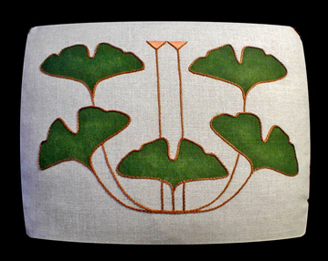Ginkgo 5-leaf Pillow