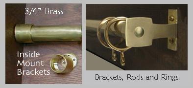 """3/4"""" Brass Hardware"""