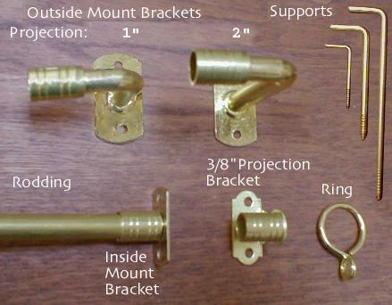 """3/8"""" Brass Hardware"""