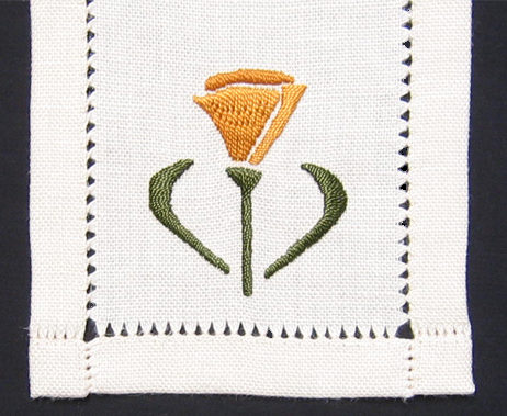 Poppy on Ivory Craftsman Linen